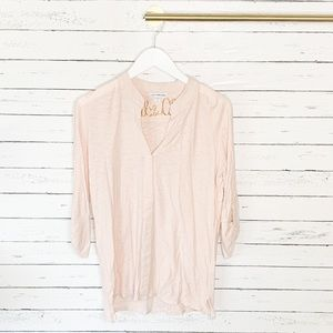 Standard James Perse Blush Jersey Button Front Tee